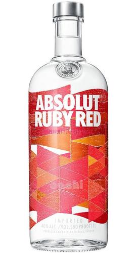 Imagen 1 de 3 de Vodka Absolut Ruby Red (pomelo Rosado) 1 Litro