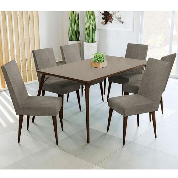 Conjunto De Mesa E 6 Cadeiras D002 - Kappesberg