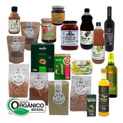 Imagem 1 de 2 de Cesta Básica Gourmet Orgânica (20 Itens)