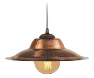 Colgante Galponera Cobre 32cm Vintage Iluminacion Puraluz