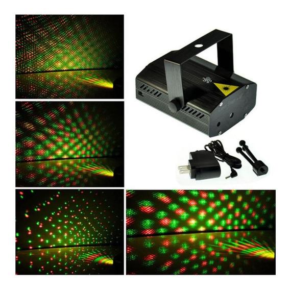 Mini Projetor Rítmico Holográfico Laser Efeitos Coloridos