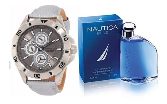 Reloj Y Perfume Nautica Caballero - Originales - Envío Gratis !!