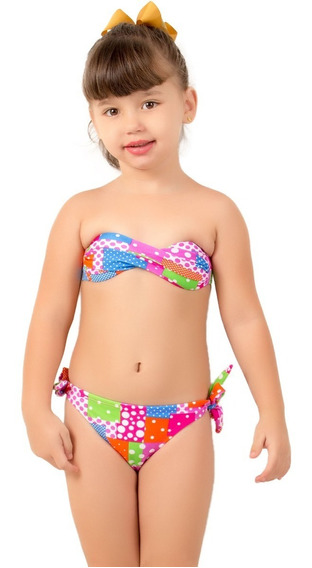 Kit 10 Biquíni Bojo Infantil Moda Praia Atacado Lycra Verão