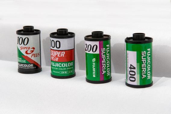 Exclusiva Coleção De Rolos Fotográficos Raros Fuji