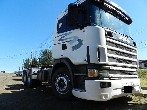 Scania R 124 360 6x2 2001 Único Dono Motor Feito Recente