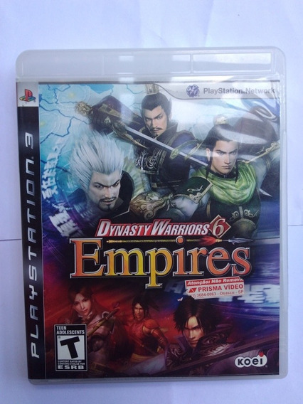Jogo Dynasty Warriors 6 Empires Ps3 Mídia Física R$89,9