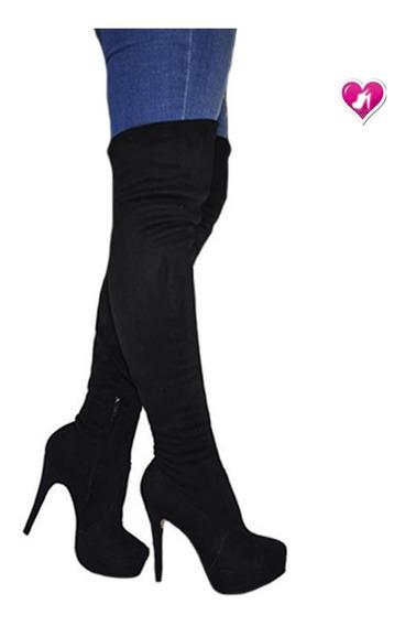 Bota Bucanera Elastizada Aguja Model Nikita De Shoes Bayres
