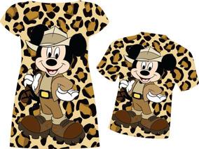 Vestido E Blusa Adultos - Mickey Safari