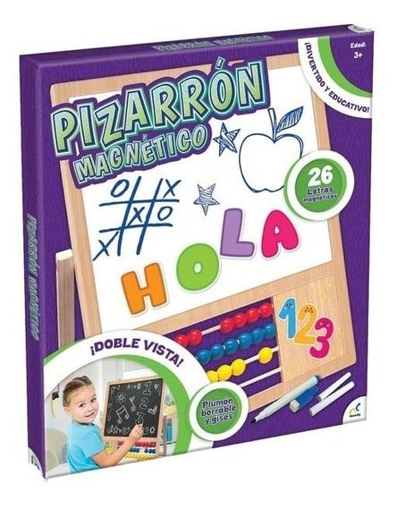 Pizarron Magnetico Doble Vista Plumon Borrable Y Gises