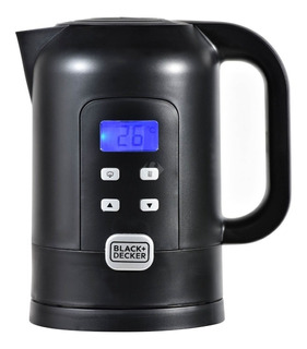 Pava eléctrica Black+Decker KE21150 negra 220V 1.7L