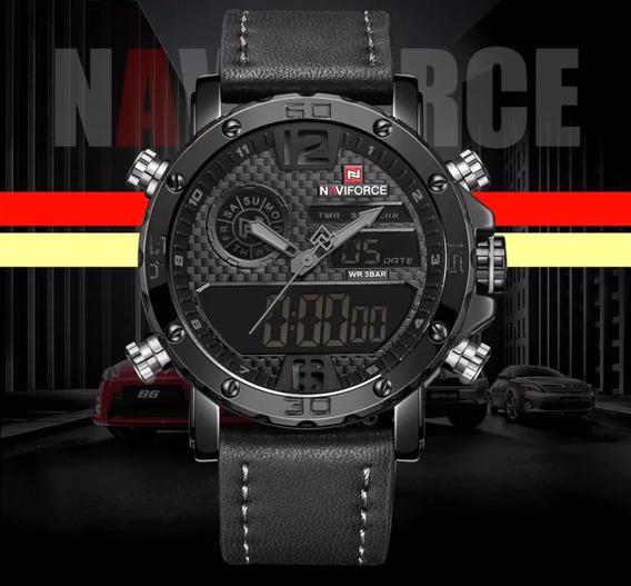 Relógio Masculino Preto Analógico/digital Naviforce Nf 9134