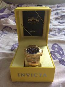 Relógio Invicta Original Pro Diver Banhado A Ouro 18k