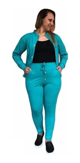 Conjunto Moda Evangélica Terno Blazer + Calça Feminina Plus