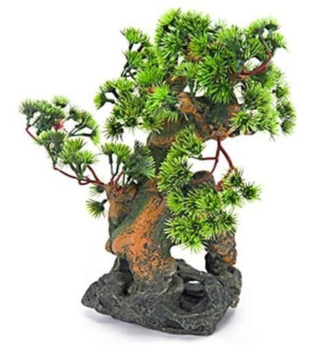 Imagen 1 de 1 de Penn Plax Bonsai Tree On Rocks Acuario Decor Style 2