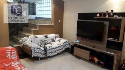 Sobrado Residencial À Venda, Jardim Santo Antônio, Santo André. - So2442