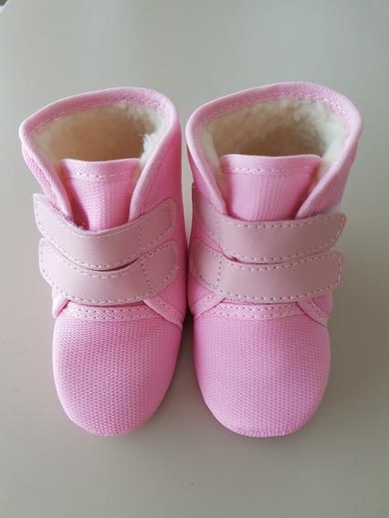 Sapatinho Botinha Bebê Forrada Inverno Vermelha +9 Cores