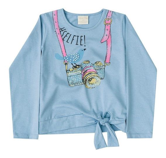 Blusa Manga Longa Infantil Cotton Quimby