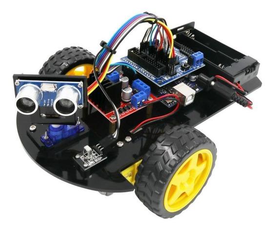 Carro 2wd Robô Módulo Ultrassônico Remoto Controle Arduino