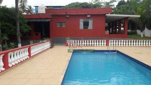 Imagem 1 de 9 de Chácara Com 3 Dormitórios À Venda, 3080 M² Por R$ 550.000,00 - Parque Agrinco - Guararema/sp - Ch0178
