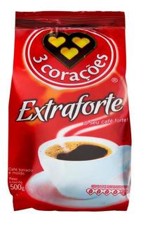 Café Torrado E Moído Extra Forte 3 Corações Pacote 500g