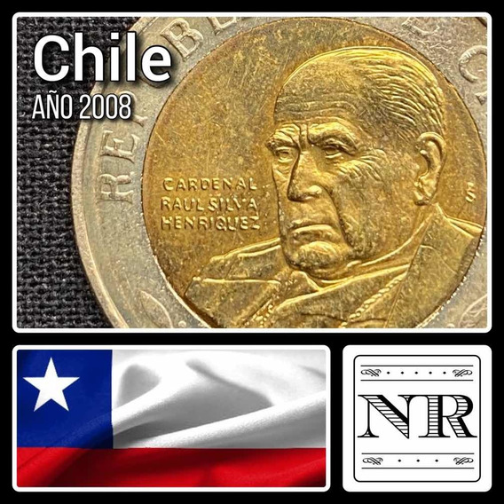 Chile - 500 Pesos - Año 2008- Bimetálica Km # 235