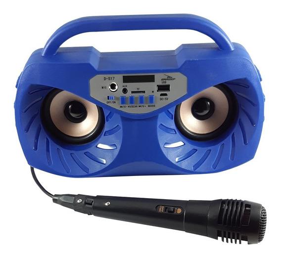 Caixa De Som Bluetooth Portatil Grasep D-s17 Azul