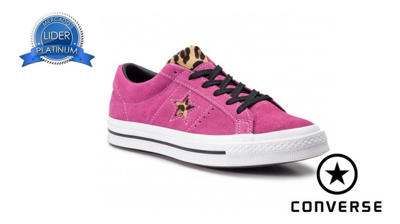 Zapatillas Converse All Star 163243c Gamuza Rosa