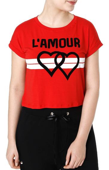 Blusa Cropped Feminina Autentique Vermelho