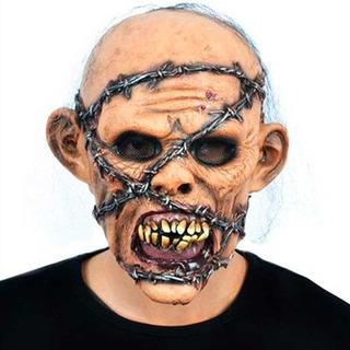 Máscara De Látex Zombie Con Púas Disfraz Halloween Upd