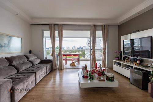 Ótimo Apartamento Com 3 Dormitórios À Venda, 135 M² - Santo Amaro - São Paulo/sp - Ap1676