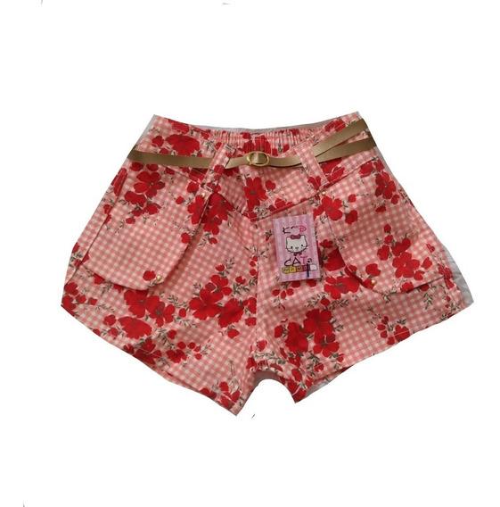 Kit Atacado Shorts Brim Infantil Meninas 15 Peças Só
