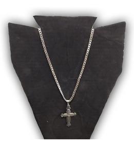 Corrente Masculina Aço Inox 70cm A1 + Crucifio Frete Grátis