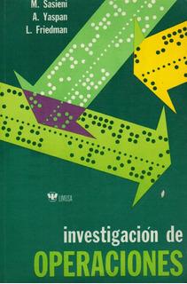 Lawrence Friedman - Investigacion De Operaciones