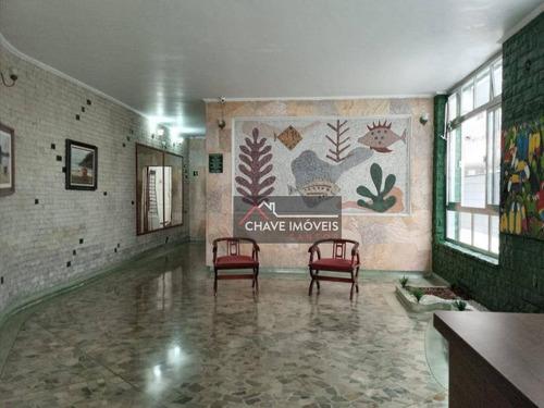 Apartamento Com 1 Dormitório À Venda, 46 M² Por R$ 272.000,00 - Boqueirão - Santos/sp - Ap2954