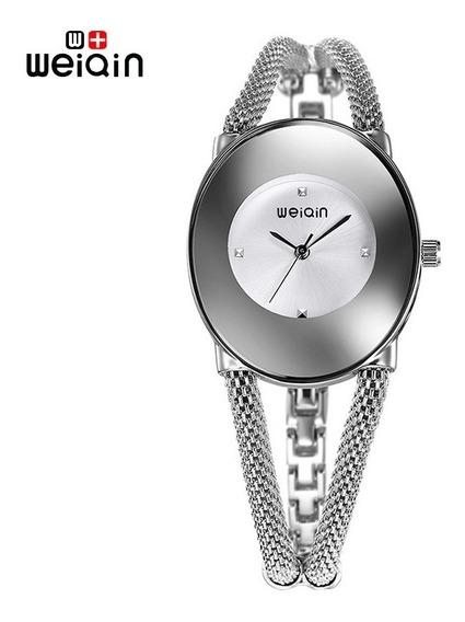Elegante Reloj Pulsera Mujer Weiqin Lujo Moda 2018