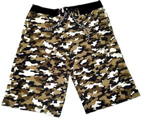 Bermuda Camuflada Militar 4 Cores / Academia / Treino