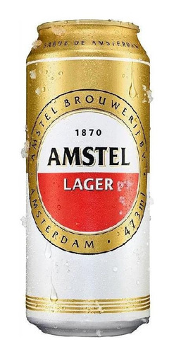 Kit Com 12 Unid Cerveja Amstel 473ml Puro Malte Lager