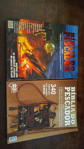 S - Biblia Do Pescador Lote Com 2 Livros Pesca Roteiros