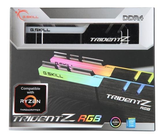 Memória G.skill Tridentz Rgb Ddr4 16gb (2x8gb) 3200mhz Cl14