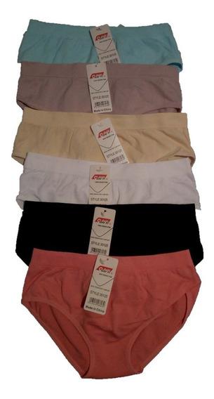 Pantaleta- Bikini Para Dama 12 Piezas De Microfibra Unitalla