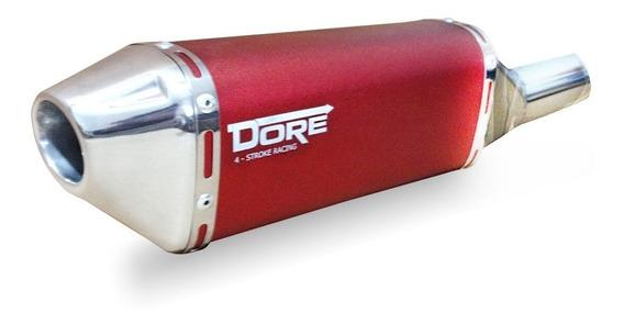 Escape Ponteira Dore Curva Inox Twister Cbx 250 /08 Vermelho