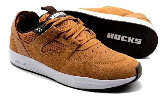 Tênis Hocks Skate Solo Caramelo Couro Marcelo Formiga Original Sneaker Masculino E Feminino Promoção Envio Imediato