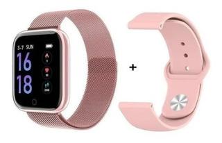 Relógio Inteligente Smartwatch T80 Bluetooth+ Pulseira Extra