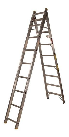 Escalera De Tijera Convertible Aluminio 17 Esc Akron 77-20