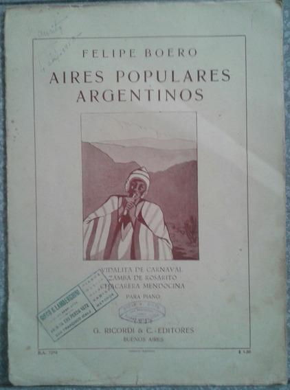Aires Populares Argentinos. Boero/ Partituras