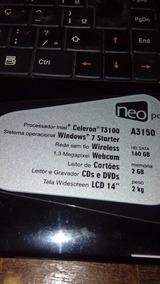 Notboock Neopc, A 3150, 2 G De Memória, Hd 160