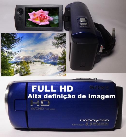 Filmadora Sony Hdr-cx220 Full Hd 60fps Alta Definição