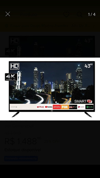 Smart Tv Hq 43 Polegadas Oferta Imbativel