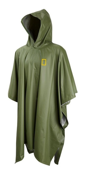 Poncho Impermeable National Geographic Adulto Verde Outdoor