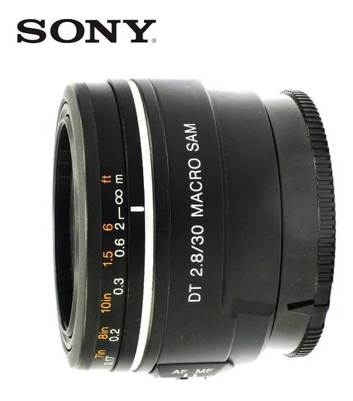 Lente Sony Macro Dt 30mm F/2,8 Sam - Nota 10 - Com Garantia